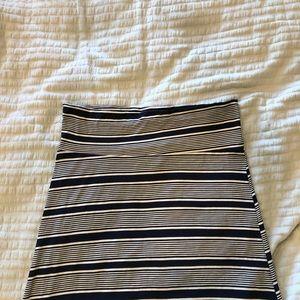 Hot Kiss XL Navy White Maxi Skirt